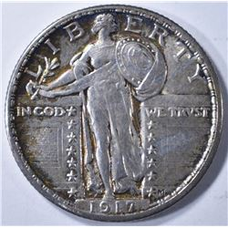 1917 TYPE 2 STANDING LIBERTY QUARTER BU