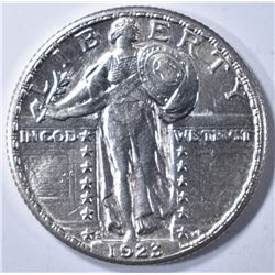 1923-S STANDING LIBERTY QUARTER GEM BU FULL HEAD