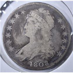1808 CAPPED BUST HALF DOLLAR VG