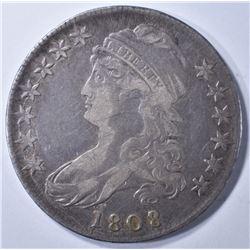 1808/7 BUST HALF DOLLAR VF