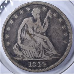 1844-O LIBERTY SEATED HALF DOLLAR