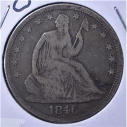 1846-O LIBERTY SEATED HALF DOLLAR VG