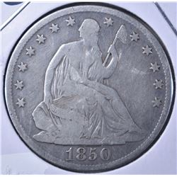 1850-O LIBERTY SEATED HALF DOLLAR VG