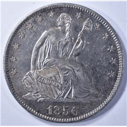 1856-O SEATED LIBERTY HALF AU/BU