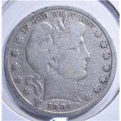 1904-S BARBER HALF DOLLAR VG