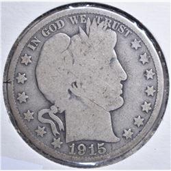 1915 BARBER HALF DOLLAR G