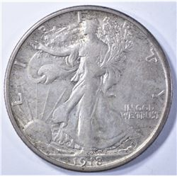 1918 WALKING LIBERTY HALF XF