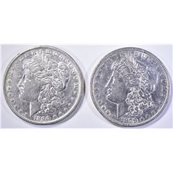 1879 & 1890-O MORGAN DOLLARS AU BETTER DATES