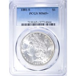 1881-S MORGAN DOLLAR PCGS MS 65+