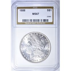 1888 MORGAN DOLLAR MS 67