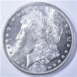 1891-CC MORGAN DOLLAR CH BU GREAT LLUSTER