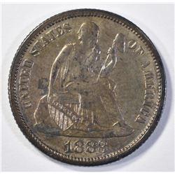 1883 SEATED LIBERTY DIME CH BU
