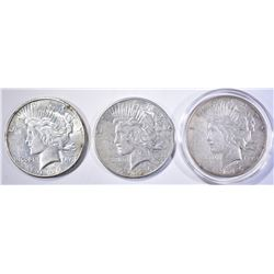 3 1926-S PEACE DOLLARS AU