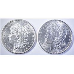 1878-S & 1897 MORGAN DOLLARS   BU