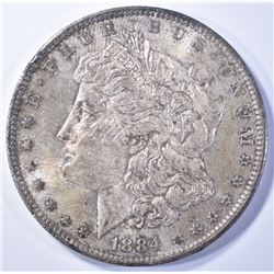 1884-O MORGAN DOLLAR  UNC  TONED