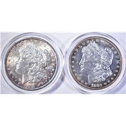 1881 & 88 MORGAN DOLLARS CH BU