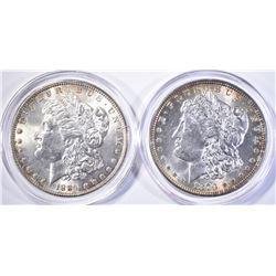 1884 & 79 MORGAN DOLLARS CH BU