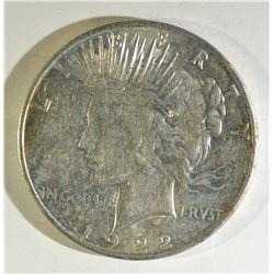 1922-D PEACE DOLLAR CH BU