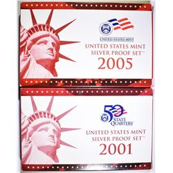 2001 & 2005 U.S. SILVER PROOF SETS