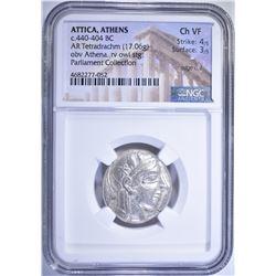 440-404 BC.  ATTICA, ATHENS  TETRADRACHM