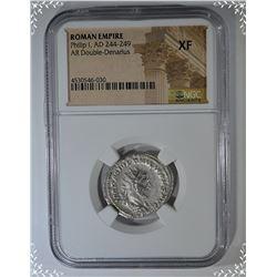 244-249 AD.  ROMAN EMPIRE PILLIP I  DOUBLE-