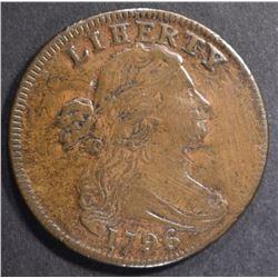 "1796 DRAPED BUST LARGE CENT  ""LIHERTY"" ERROR  VF/X"