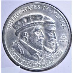 1924 HUGENAUT COMMEM HALF DOLLAR, CH BU