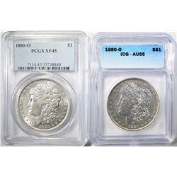 2-1880-O GRADED MORGAN DOLLARS