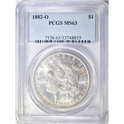 1882-O MORGAN DOLLAR, PCGS MS-63