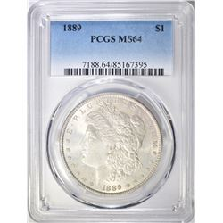 1889 MORGAN DOLLAR, PCGS MS-64