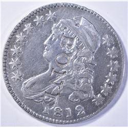 1812 BUST HALF DOLLAR, XF