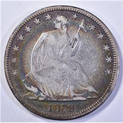 1878 SEATED HALF DOLLAR, VG/FINE BETTER DATE