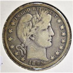 1895 BARBER HALF DOLLAR, FINE