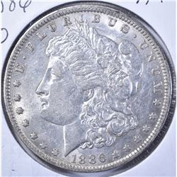1886-O MORGAN DOLLAR, AU