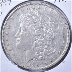1897-O MORGAN DOLLAR, AU