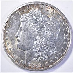 1889-S MORGAN DOLLAR, CH BU