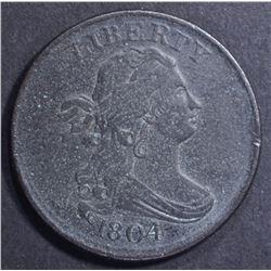 1804 HALF CENT, XF