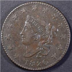 1820 LARGE CENT, AU