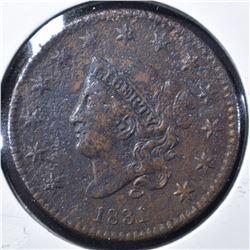 1831 MEDIUM LETTERS LARGE CENT, XF