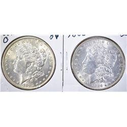 1882-O & 1886 BU MORGAN DOLLARS