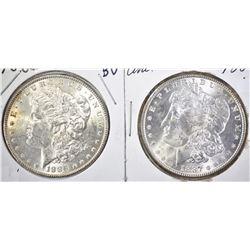 1886 & 1887 BU MORGAN DOLLARS