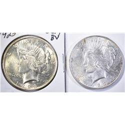 1923 BU & 1923 GEM BU PEACE DOLLARS