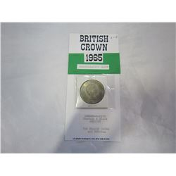BRITISH CROWN 1965 CAMMEMORATIVE 2 HEADED COIN
