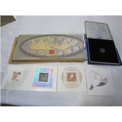 2000 UNCIRCULATED COIN SET AND CANADIAN MILLENNIUM COIN SET AND CANADIAN STAMPS