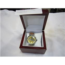 LOUI VUITTON WATCH IN CASE UNAUTHENTICATED
