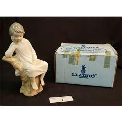 Lladro Girl Reading Box