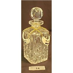 Brandy Decanter With Tags