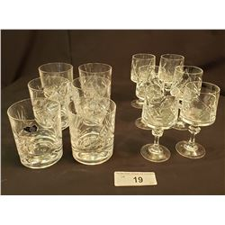 Crystal Glasses, 12 In Total