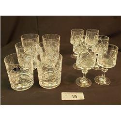 Crystal Glasses, 12 In Total