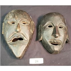 Lot Of 2 African Masks